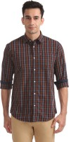ARROW BLUE JEANS CO. Men Checkered Casual Blue Shirt