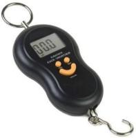 Zelenor Smiley Pocket Weight Machine Digital 50Kg Travel Luggage Weighing Scale(Black)