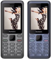 Niamia CAD 2 Combo of Two Mobiles(Grey&Blue)