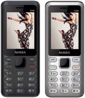 Niamia CAD 2 Combo of Two Mobiles(Black&Silver)