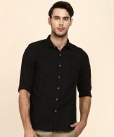 Lee Men Solid Casual Black Shirt