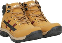 Kraasa Cowboy Boots For Men(Beige, Black)
