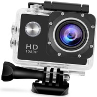 OSRAY Full HD 1080P Sports Action Camera 2.0 Inch LCD Camcorder Underwater 30m/98ft Waterproof Sports and Action Camera(Black, 12 MP)