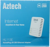 Aztech HL113E HomePlug AV Powerline Ethernet Extender Router(White)