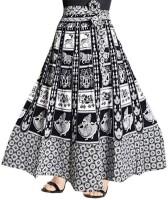 Unique Choice Printed Women Wrap Around White Skirt