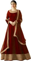 Fashionuma Georgette Embroidered Salwar Suit Material(Semi Stitched)