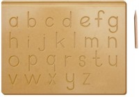 The Kiddy Depot Tracing Board - English Alphabet Lowercase Wooden With Dummy Pencil(Brown)