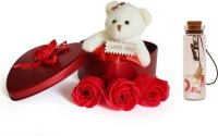 kuku Artificial Flower, Soft Toy, Message Pills, Showpiece Gift Set