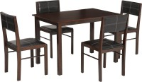 Woodness Jasmine Solid Wood 4 Seater Dining Set(Finish Color - Dark Brown)