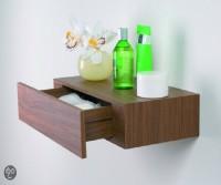 all crafts art drawer shelf MDF (Medium Density Fiber) Wall Shelf(Number of Shelves - 1, Grey)