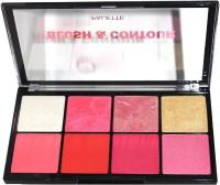 Butter Lips Professional care 8 color Blush & Contour Palette(Multicolor)