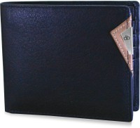 MY PAC db Men Casual, Formal, Travel, Trendy Black Genuine Leather Wallet(10 Card Slots)