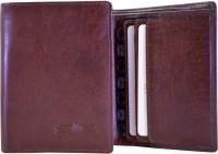 Arpera Men Formal Brown Genuine Leather Wallet(6 Card Slots)