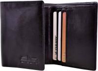 Arpera Men Formal Black Genuine Leather Wallet(6 Card Slots)