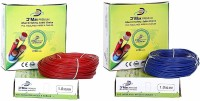 D'mak DMAK Premium 'PVC Insulated Single Core FlexbleCopper Wire (Pack of 2) 1 sq/mm Red, Blue 90 m Wire(blue, red)