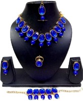 APSARA ART Stone Jewel Set(Blue)