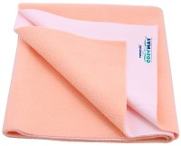 COZYMAT Cotton Baby Bed Protecting Mat(Peach (Single Bed, Size: 140cm x 220cm), Free)