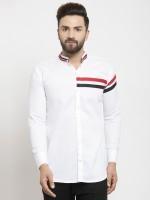 BOSQUE Men Solid Casual White Shirt