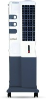 View Crompton Mystique DLX with Honey Comb Cooling Pads Tower Air Cooler(White, Grey, 34 Litres) Price Online(Crompton)