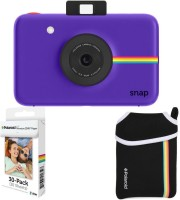 Polaroid Snap Instant Camera Purple with 2x3 Zink Paper (30 Pack) Neoprene Pouch Instant Camera(Purple)