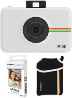 Polaroid Snap Instant Camera with 2x3 Zink Paper (30 Pack) Neoprene Pouch (White) Instant Camera(White)