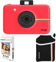 Polaroid Snap Instant Camera Red with 2x3 Zink Paper (30 Pack) Neoprene Pouch Instant Camera(Red)