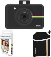 Polaroid Snap Instant Camera Black with 2x3 Zink Paper (30 Pack) Neoprene Pouch Instant Camera(Black)