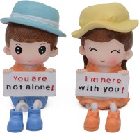 Store2508 Cute Romantic Love Hanging Legs Showpiece (Pair) for Home Décor. Very Nice Gift Item Decorative Showpiece  -  12 cm(Polyresin)