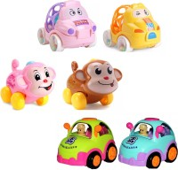 Nabhya Set Of 6 Pic Various Toys Friction City Car,Car Rattle And Wind Up Monkey(Multicolor)