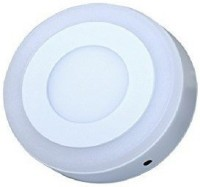 D'Mak 6 Watt Round Surface Dual Multi Color PGB (Pink,Green,Blue) LED Panel Light White+Pgb Lamp Downlight AC 100-265V Lights with IC Driver Energy Super Saver (6.00 Watts) | led color panel light | (Pack OF 03) Recessed Ceiling Lamp