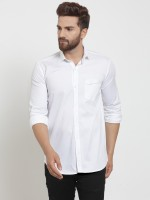 A-Okay Men's Solid Casual White Shirt