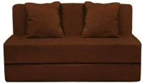 PumPum Sofa Cum Bed Two Seater Coffee Brown Single Sofa Bed(Finish Color - Coffee Brown Mechanism Type - Fold Out)