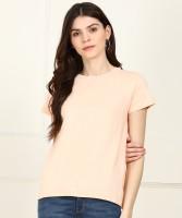 Jealous 21 Casual Half Sleeve Solid Women Pink Top