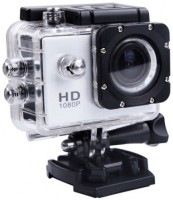 Richuzers 1080P Sports Cam Waterproof Full HD Camera Sports and Action Camera(Silver, 12 MP)