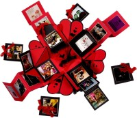 Crafted with passion Explosion box for valentine's day , birthday or anniversary , gift box for any occasion Greeting Card(RED and BLACK, Pack of 1)