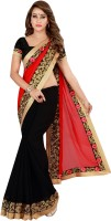 Kuki Fashion Embroidered Daily Wear Poly Georgette Saree(Red)