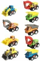 SuperToy Unbreakable Construction Vehicles Toy (9 Truck Set)(Multicolor)