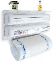 Sellerstory 3 in 1 Kitchen Triple Paper Roll Dispenser Hanger Stand & Holder for Cling Film Wrap Aluminium Foil & Kitchen Roll Triple Paper dispenser -006 Paper Dispenser