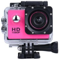 INAIL 2019 12MP 1080P Waterproof Camera with 2-inch LCD Screen Multi-Language and Micro SD Card Slot Sports and Action Camera(Pink, 12 MP)