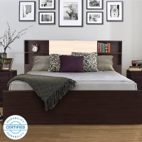 HomeTown Engineered Wood King Box Bed(Finish Color -  Wenge)