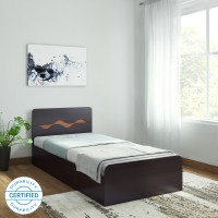 HomeTown Swirl Single Engineered Wood Single Box Bed(Finish Color -  Denver Oak & Urban Teak)