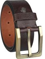 KAEZRI Men Casual Brown Genuine Leather Belt