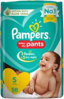 Pampers New Small Size Diapers Pants (58 Count) - S