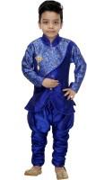 SmartRAHO Boys Festive & Party Kurta and Churidar Set(Blue Pack of 1)