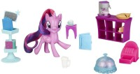 My Little Pony Toy On-the-Go Twilight Sparkle--Purple3-Inch Pony Figure with 14 Accessories and Storage Case, Kids Ages 3 Years Old and Up(Multicolor)