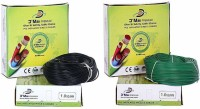 D'mak pvc coated 1 sq/mm Green, Black 90 m Wire(black, green)