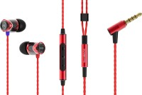 SoundMagic E10C Wired Headset with Mic(Red Black, In the Ear)
