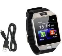 Mobile Link M9 _SILVER.KL.3 phone Smartwatch(Black Strap, Free Size)