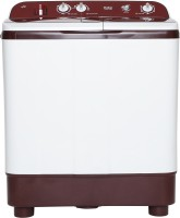 Haier 8 kg Semi Automatic Top Load White, Maroon(HTW80-1128BT)
