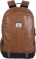 Gear CLASSIC ANTI THEFT FAUX LEATHER 20 L Laptop Backpack(Tan, Black)